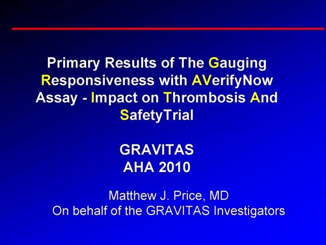 GRAVITAS Trial - CRTOnline