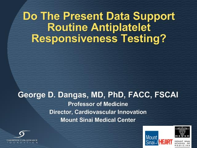 Do The Present Data Support Routine Antiplatelet